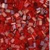 Tiny Flats 5X3.5mm Mix Red